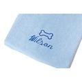 Personalised Baby Blue Bone Dog Towel - Italic font 2