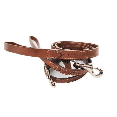Wide Full Tan Leather Dog Lead