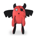 Red T-Pee Monster Plush Dog Toy