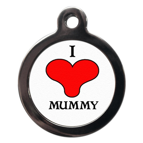 I Love Mummy Pet ID Tag
