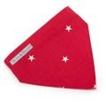 Cranberry Star Cotton Neckerchief  4