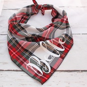Pet Pooch Boutique - Personalised Alfies Plaid Tartan Dog Bandana