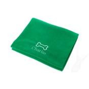 PetsPyjamas - Personalised Green Bone Dog Blanket - Classic font