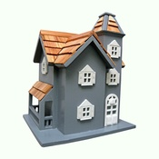 Garden Bazaar - Little Manor Blue Birdhouse