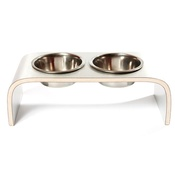 Lola and Daisy - Aluminium & Wood Raised Pet Feeder