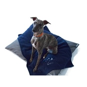 PetsPyjamas - Personalised Navy Snooze Pet Blanket - Classic font