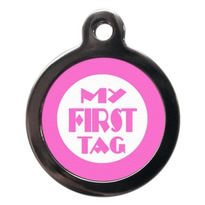 My First Pet ID Tag - Pink