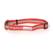 Doodlebone - Bold Reflective Dog Collar – Red