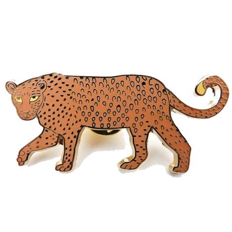 Enamel Leopard Brooch