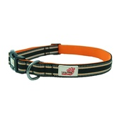 Long Paws - Comfort Padded Dog Collar – Black