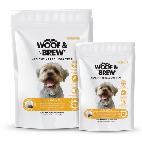 Woof & Brew Digestion Herbal Dog Tea (28 bags)