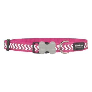 Ziggy Reflective Dog Collar – Hot Pink