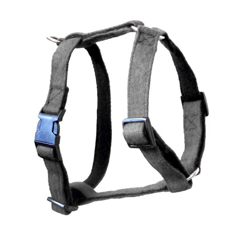 Grey Wool Dog Harness