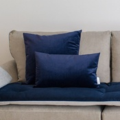 The Lounging Hound - Velvet Scatter Cushion - Ink
