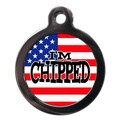 I'm Chipped Stars & Stripes Pet ID Tag