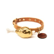 SR! Dog Accessories - Gold Chicken Leg Dog Collar