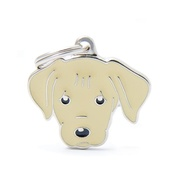My Family - Labrador Engraved ID Tag – Cream