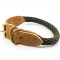 Rope collar (Braided) - Khaki 3