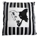 Border Collie Striped Cushion