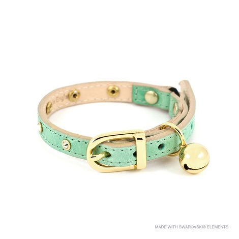 Baby Green Crystal Cat Collar