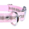 Scottish Raspberry Tartan Dog Collar – Light Pink 3