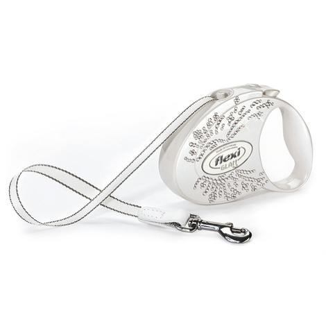 Flexi Glam Retractable Dog Lead – White Wings