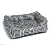Pet Pooch Boutique - Grey Tartan Dog Bed