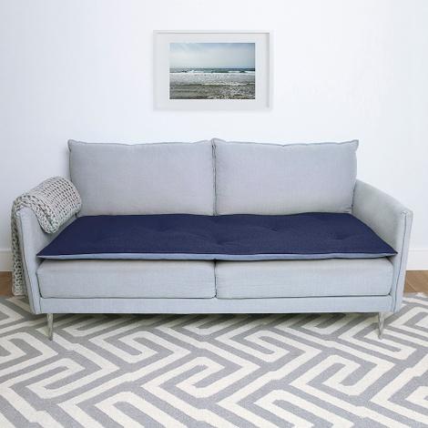 Wool Sofa Topper - Storm Blue