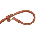 Rolled Leather Slip Dog Lead - London Tan 2