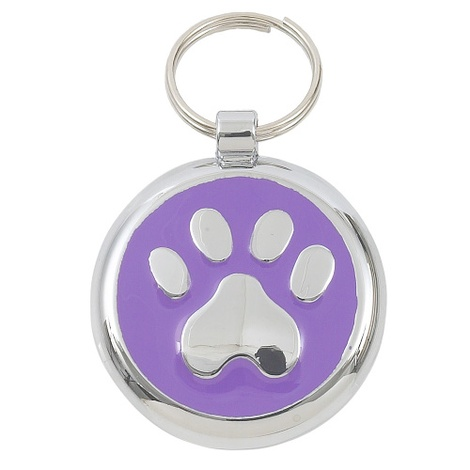 Smarties Lilac Paw Pet ID Tag