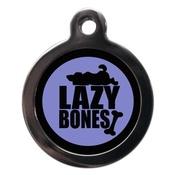 PS Pet Tags - Purple Lazy Bones Pet ID Tag