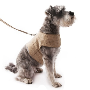 Oatmeal Check Tweed Dog Harness