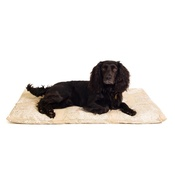 The Lounging Hound - Owl Motif Dog Roll Bed - Taupe