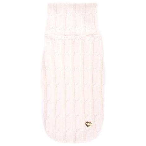 White Braided Luxury Dog Sweater
