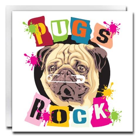 Pugs Rock Card