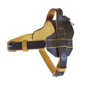 The Paws Pet Supplies - Colour Fusion Leather Harness – Brown