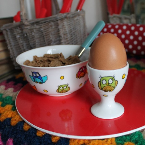 Owl Breakfast Set