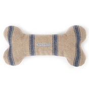 Mutts & Hounds - Navy Nordic Stripe Squeaky Bone Toy