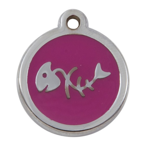My Sweetie Pink Fishbone Pet ID Tag