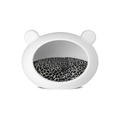 Small White Dog Cave with Animal Print Cushion 2