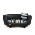 Oxford 2 Leather Pet Bed - Moonlight Black 2