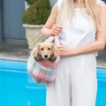 Macaroon Check Tweed Dog Carrier 4
