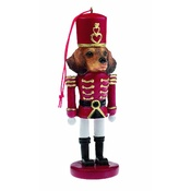 NFP - Red Dachshund Nutcracker Soldier Ornament