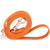 Chihuy - Orange and Silver Luxury Leather Lead