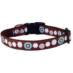 Blue Floral Dog Collar