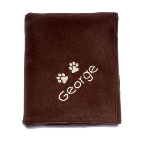 Large Personalised Pet Blanket - Milk Chocolate 2