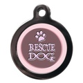 Pink Rescue Dog Pet ID Tag