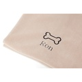 Personalised Cream Bone Dog Blanket - Classic font 2