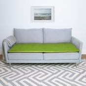 The Lounging Hound - Wool Sofa Topper - Lime