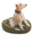 Forest Green Tweed Donut Bed 4